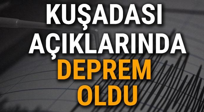 EGE DENİZİNDE 4,5 BÜYÜKLÜGÜNDE DEPREM MEYDANA GELDİ